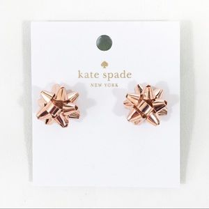 Kate Spade Rose Gold Bourgeois Bow Earrings